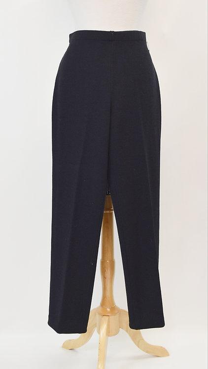 St. John Black Knit Pants Size Medium (8)