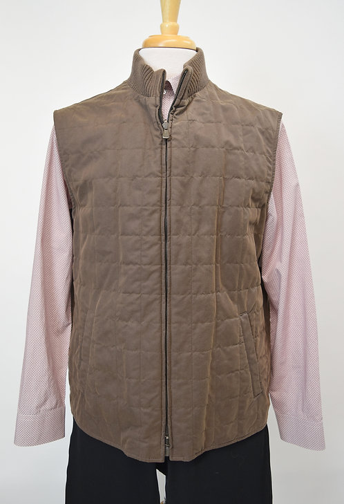 Loro Piana Brown Quilted Vest Size XXL