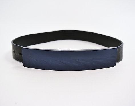 Maison Martin Margiela Blue & Black Belt Size Small