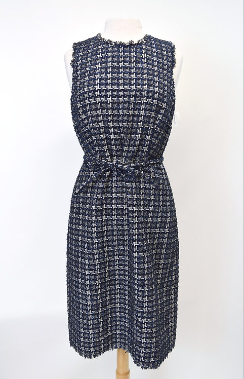 J. Crew Navy Tweed Dress Size Medium (8)