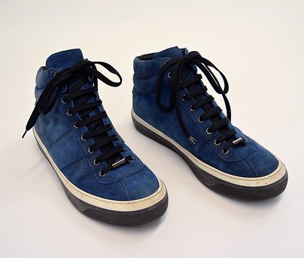 Jimmy Choo Blue Suede Sneakers Size 11