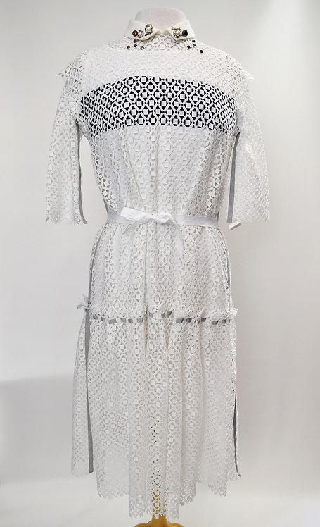 Kolor White Lace Two-Piece Dress Size Small