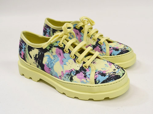 Camper Neon Yellow Print Sneakers Size 8