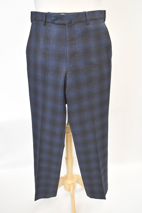 Germano Blue & Black Plaid Pants Size 32