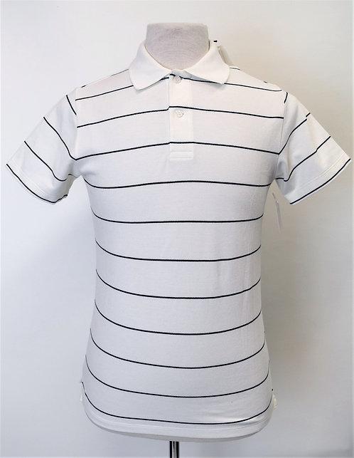 Sandro White Stripe Polo Size Small