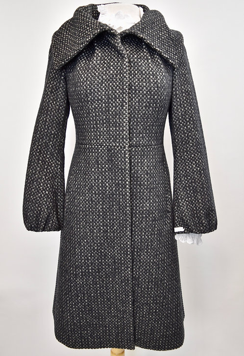 MaxMara Charcoal Gray Tweed Coat Size Small (4)