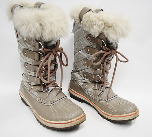 Sorel Gray Snow Boots Size 8.5