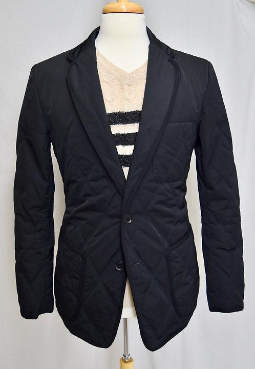 Y-3 Yohji Yamamoto Black Quilted Blazer Jacket Size 40R