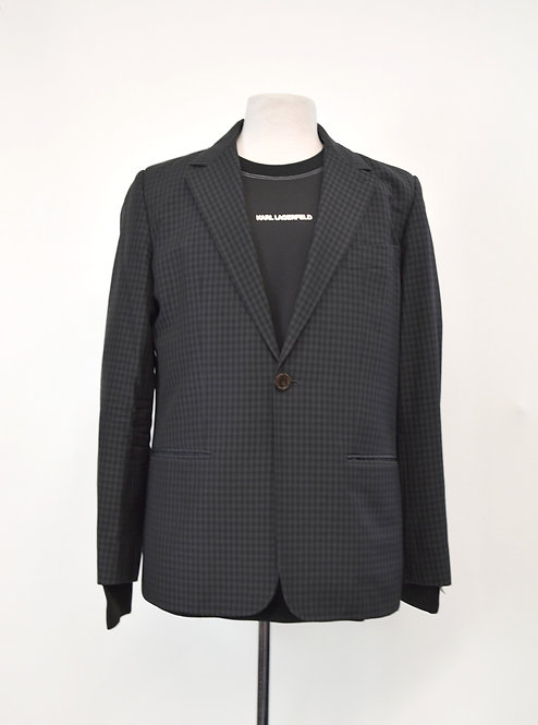 A.P.C. Charcoal Gray Check Blazer Size 42R