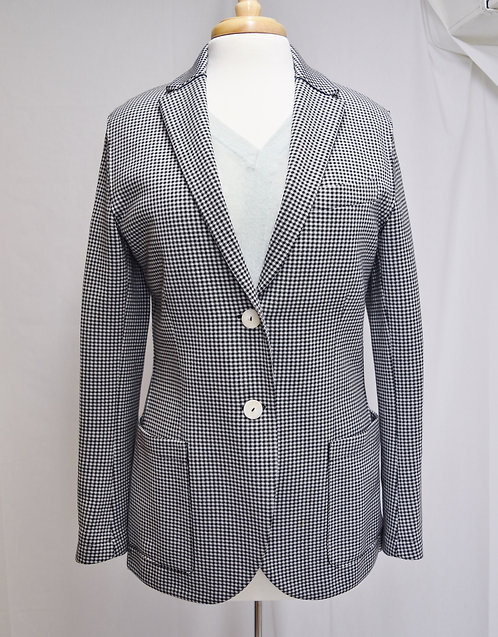 Harris Wharf London Black & White Blazer Size 8