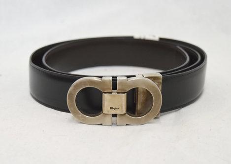 Salvatore Ferragamo Reversible Black/Brown Leather Belt