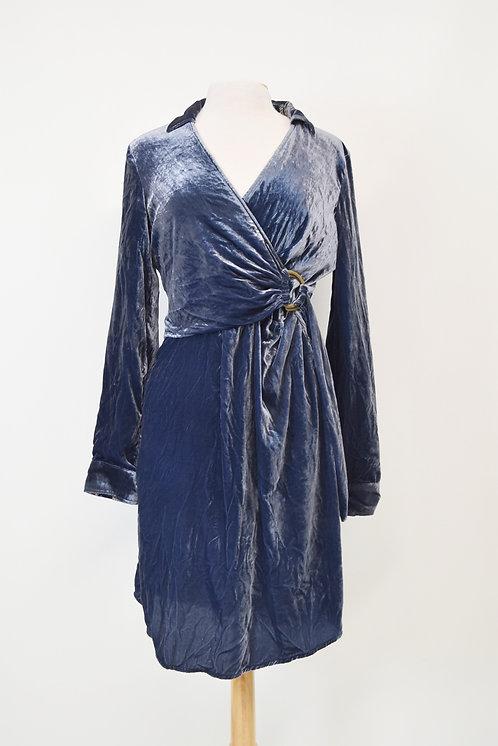 Maeve Dark Blue Velvet Dress Size Large (12)