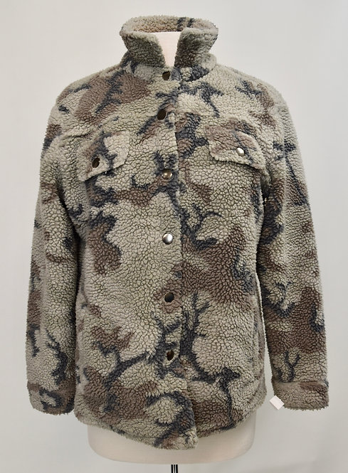 Vintage Havanna Camo Sherpa Jacket Size Small