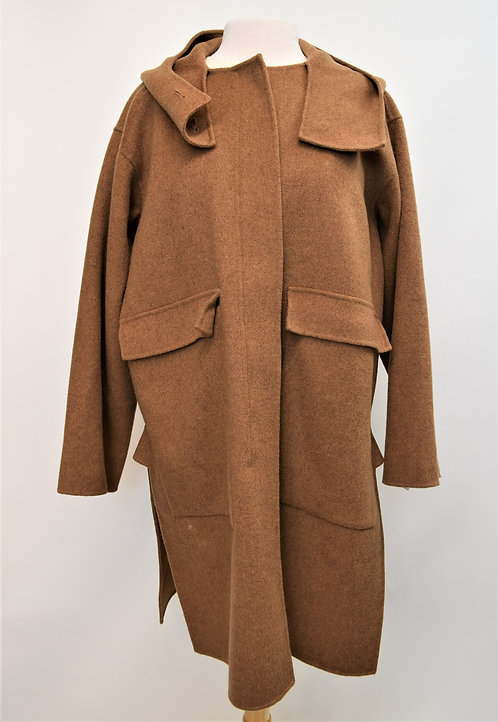 Sofie D'Hoore Camel Wool & Cashmere Coat Size Medium