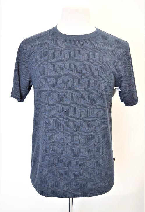 Billy Reid Blue Print T-Shirt Size Small