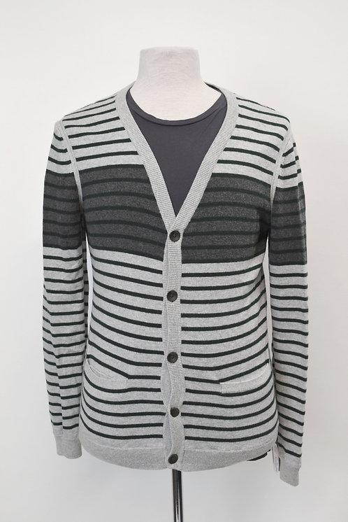 Rag & Bone Gray Stripe Cardigan Size Small