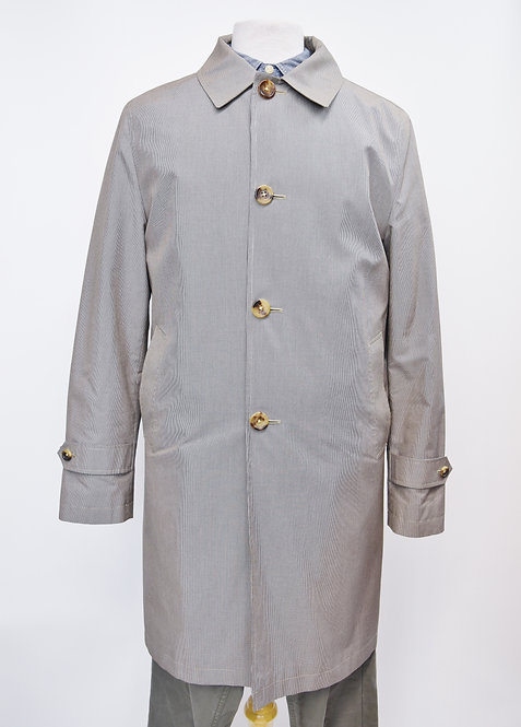 Brooks Brothers Gray Check Cotton Coat Size Large