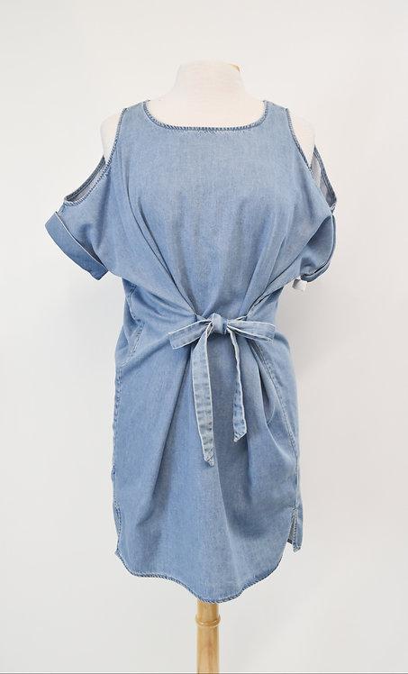 AllSaints Denim Cold Shoulder Dress Size Small