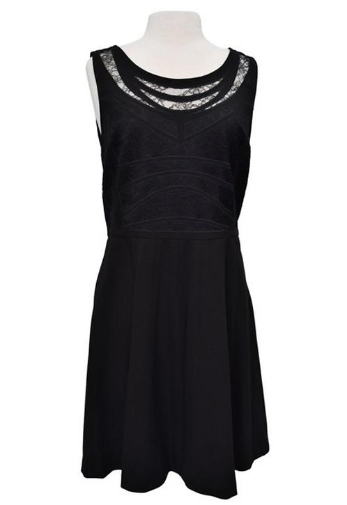 Diane Von Furstenberg Black Dress Size 14