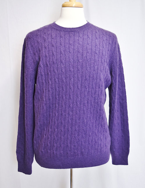 Brioni Purple Cashmere Knit Sweater Size XL