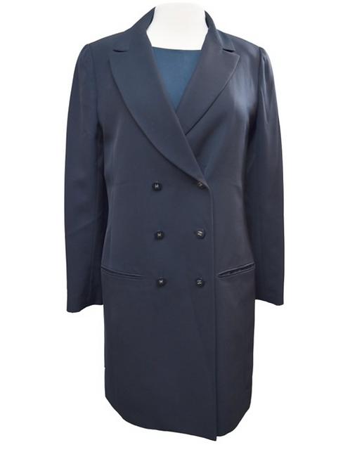 Chanel Boutique Navy Coat Size Medium