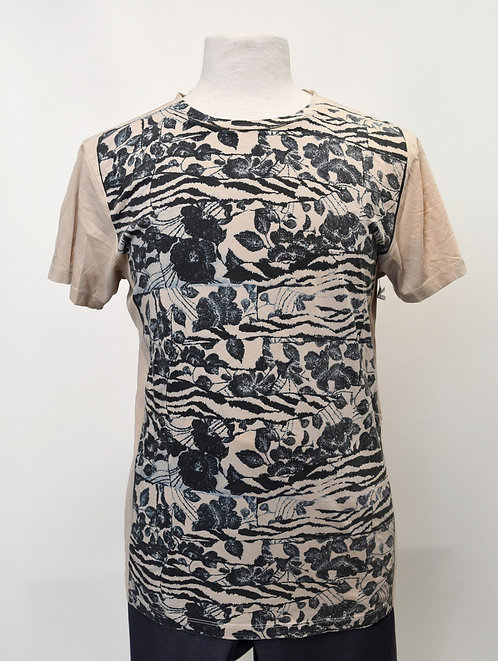 Marc Jacobs Bast Beige & Gray T-Shirt Size Medium