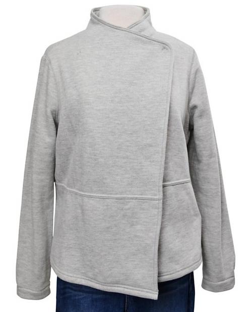 Lou & Grey Gray Asymmetrical Cardigan Size Medium