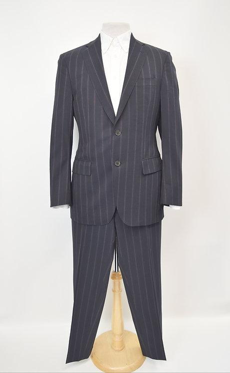 Etro Navy & Purple Stripe Suit Size 40R