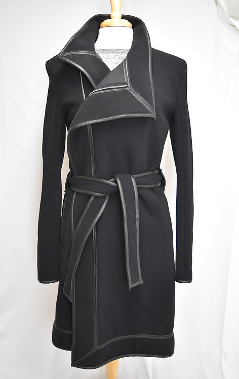 Gareth Pugh Black Wool Trench Coat Size Large