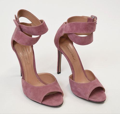 Samuele Failli Pink Suede Heels Size 6