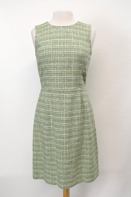 Brooks Brothers Green Tweed Dress Size 8
