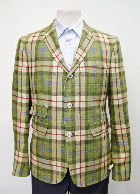 Brooks Brothers Black Fleece Green Plaid Blazer Size