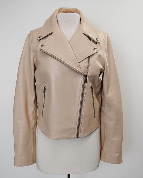 J. Crew Blush Leather Jacket Size 10