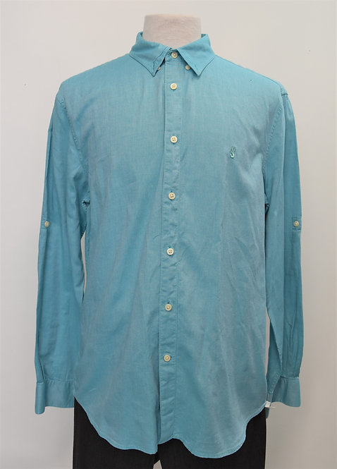 John Varvatos Blue Dress Shirt Size Large