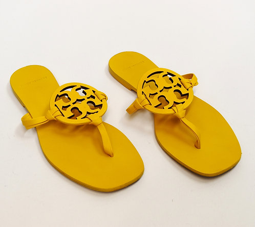 Tory Burch Yellow Leather Sandals Size 6