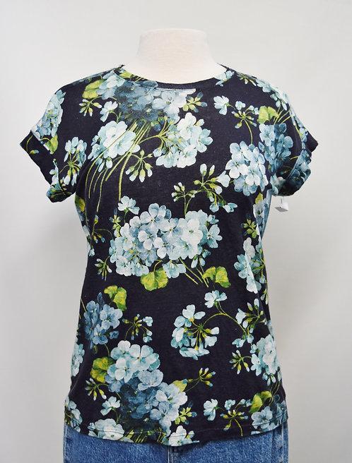 Gucci Blue Floral Top Size XS