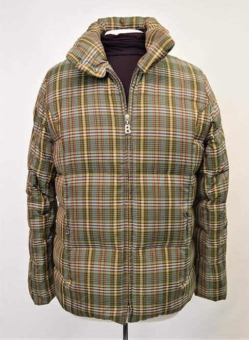 Bogner Green Plaid Puffer Coat Size Large (12)