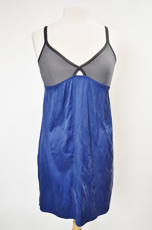 Marni Navy & Gray Silk Dress Size XS