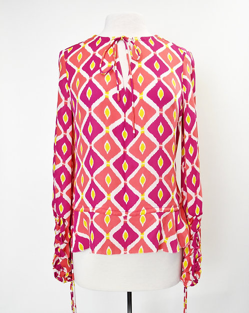 Tory Burch Pink & Coral Blouse Size 6