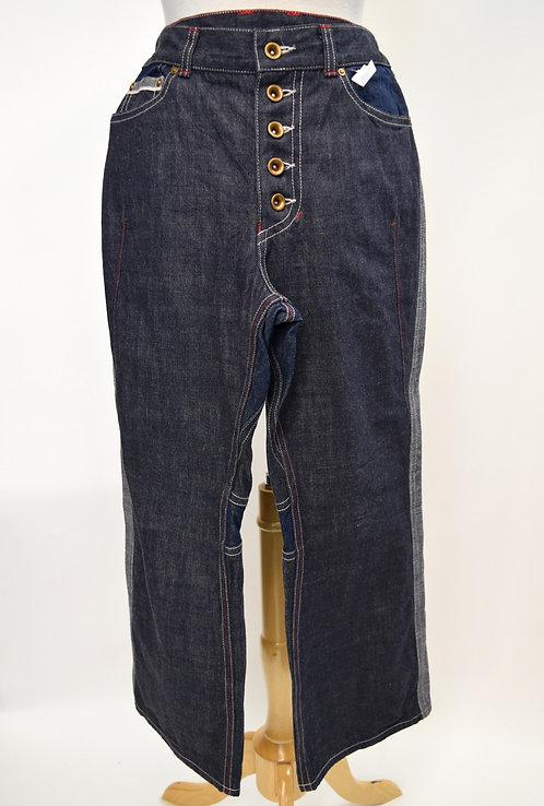 Shiro Sakai Dark Wash Cropped Jeans Size Medium