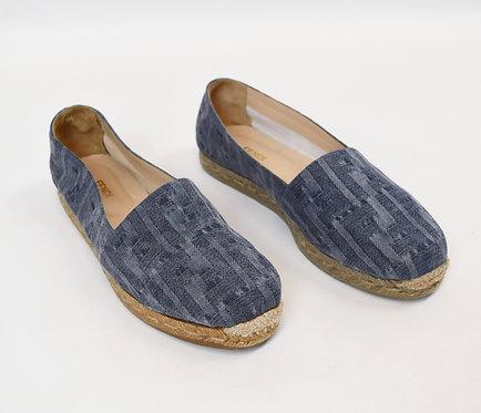 Fendi Blue Chambray Espadrilles Size 8.5