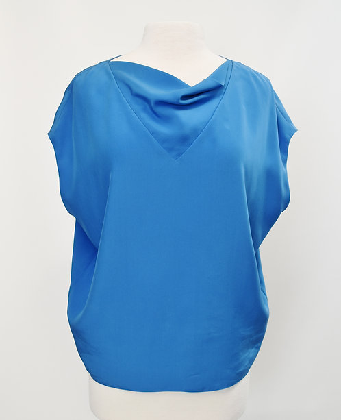 Hermes Blue Silk Blouse Size Small/Medium