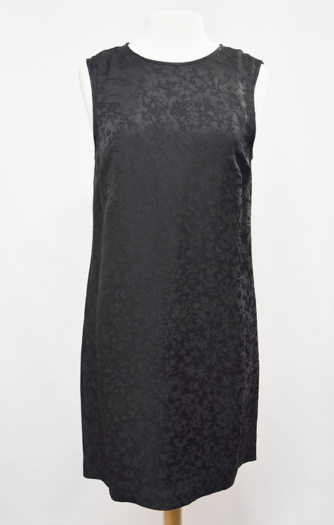 Theory Black Floral Shift Dress Size 8