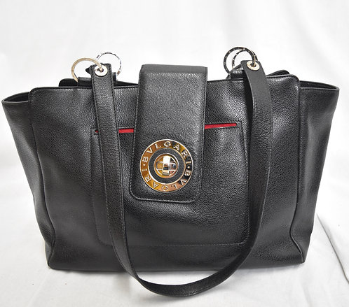Bvlgari Black Leather Tote