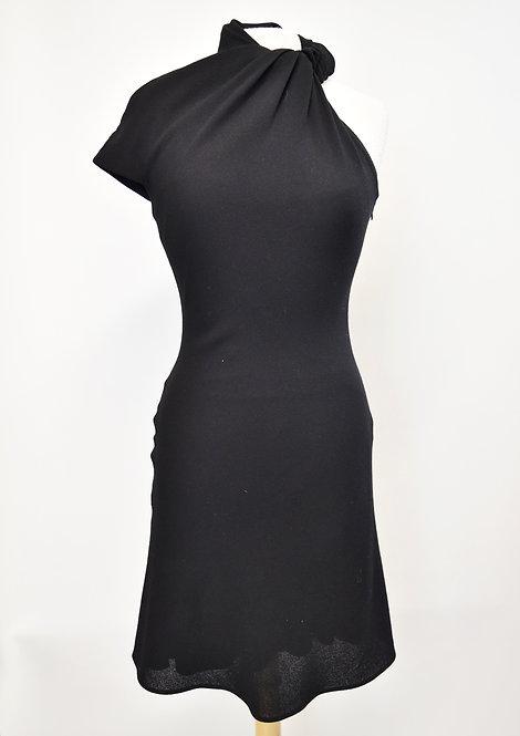 Giambattista Valli Black Asymmetrical Dress Size Small