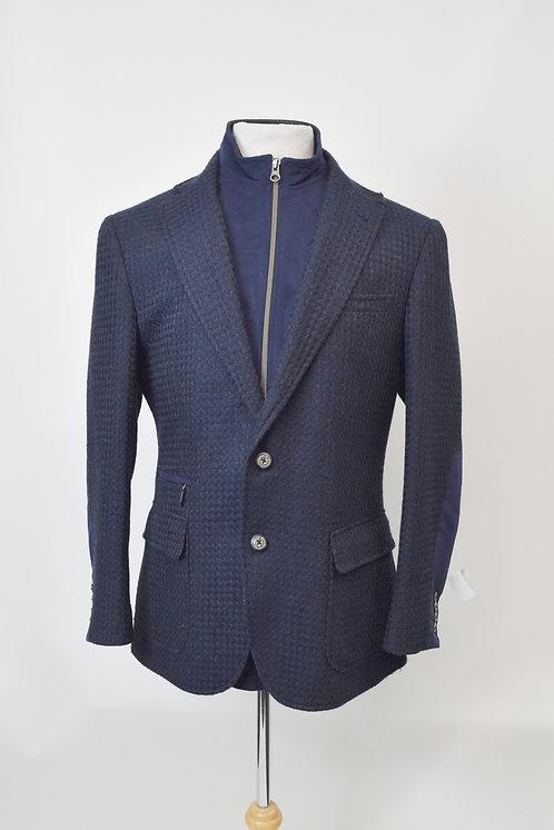 Robert Graham Navy Two-Way Coat Size Medium