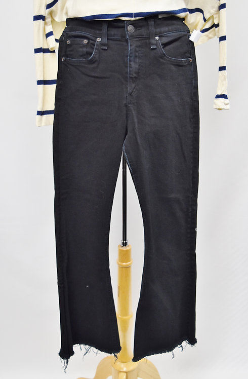 Rag & Bone Black Cropped Flare Jeans Size 27
