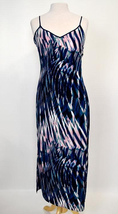 Sanctuary Blue & Pink Print Dress Size Small