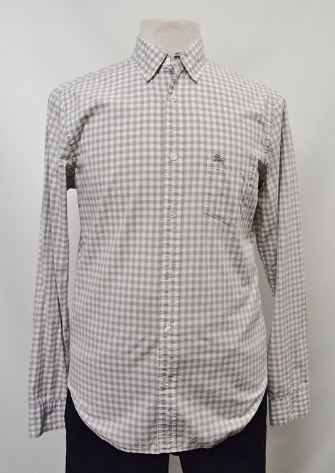 Burberry Gray Check Shirt Size Medium