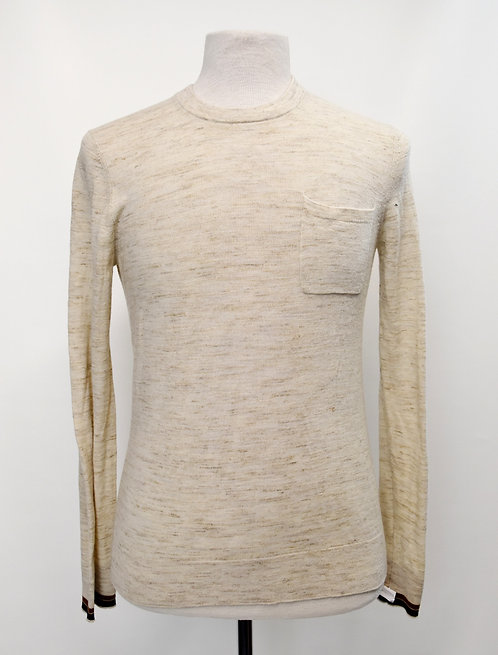 Vince Beige Wool Sweater Size Small